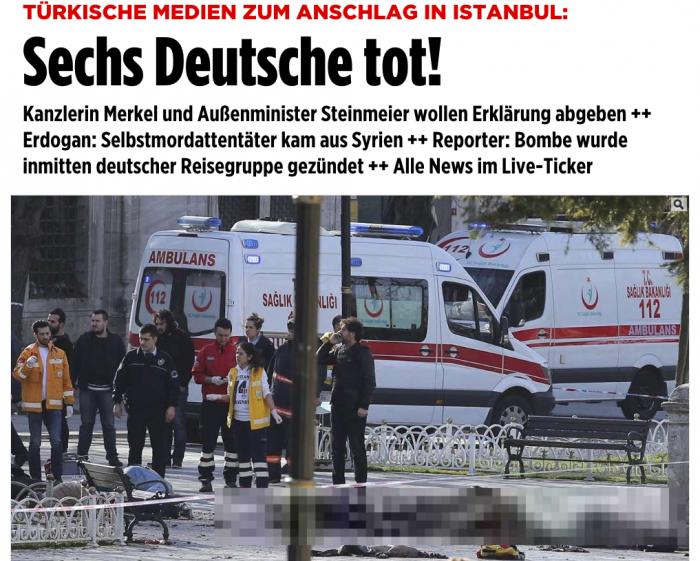 Útok v Istanbulu pravděpodobně ovlivní německou diskusi o přístupu k migrantům