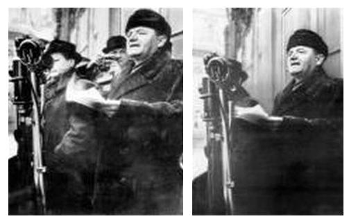 Nepohodlný Vlado Clementis, vyretušovaný z fotky s českým komunistickým diktátorem Klementem Gottwaldem