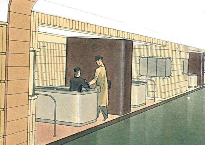Stanice Museum v rozvaze z roku 1939