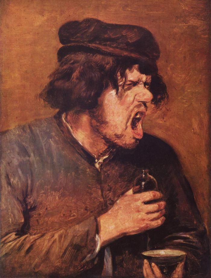 Adriaen Brouwer: Zahořklý opilec (1640)