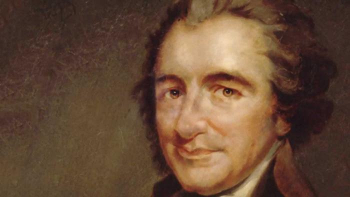 """Thomas Paine napsal v roce 1975 pamflet """"Common Sense"""", který hrál důležitou roli v začátcích boje kolonistů o nezávislost."""