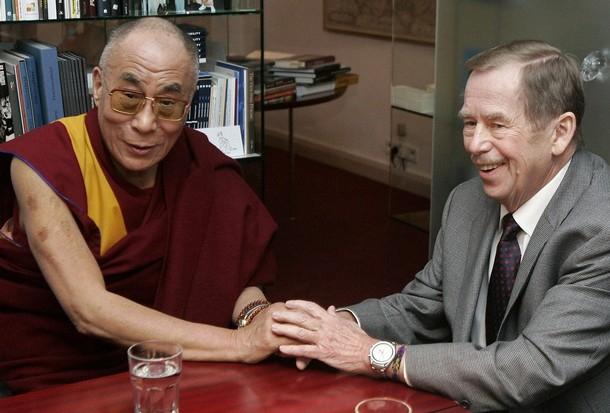S prezidentem Václavem Havlem v prosinci 2008
