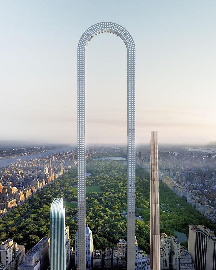 """Obří mrakodrap ve tvaru písmene """"U"""" má vyrůst na 57. ulici v Manhattanu."""