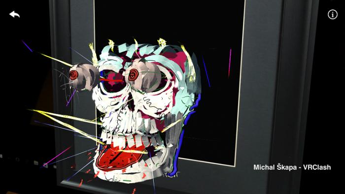 Vítězné dílo Michala Škapy si mohli diváci sami prohlédnout ve virtuální realitě ze všech stran.