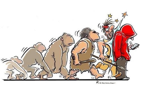 Evoluce se opičí...