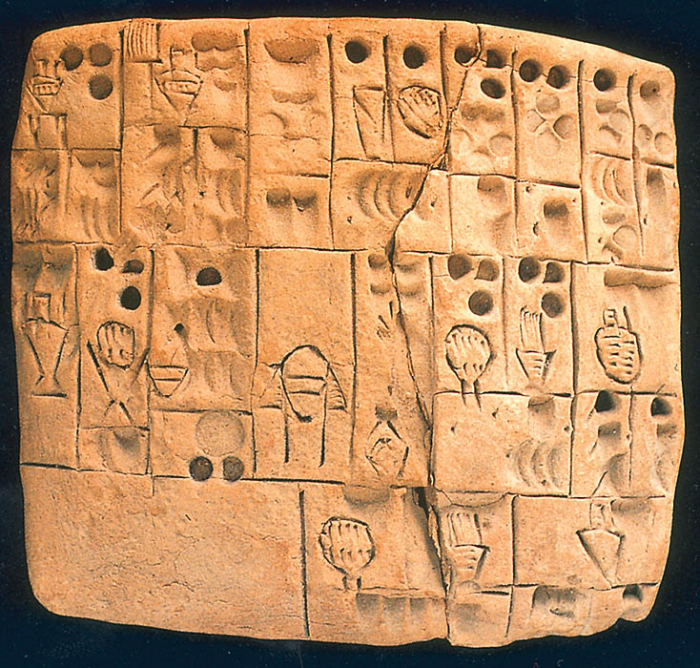 Záznam o rozdělování piva a chlebových placek, 4. tis. př.n.l.