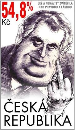 Jedna z mnoha parodií na známku se Zemanem