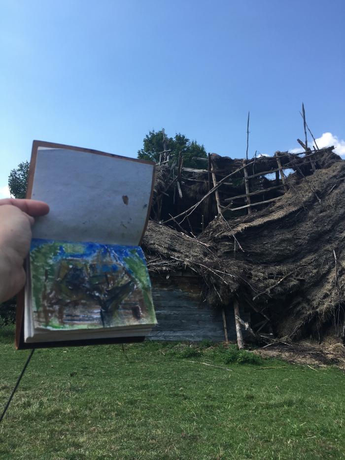 Pavel Vondráček: Ruina stodoly v rumunském pohoří Trascau