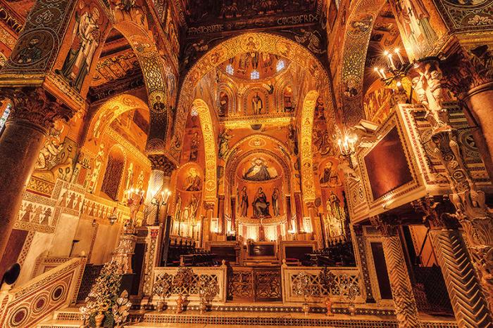 Arabsko-normanská architektura v Palermu.