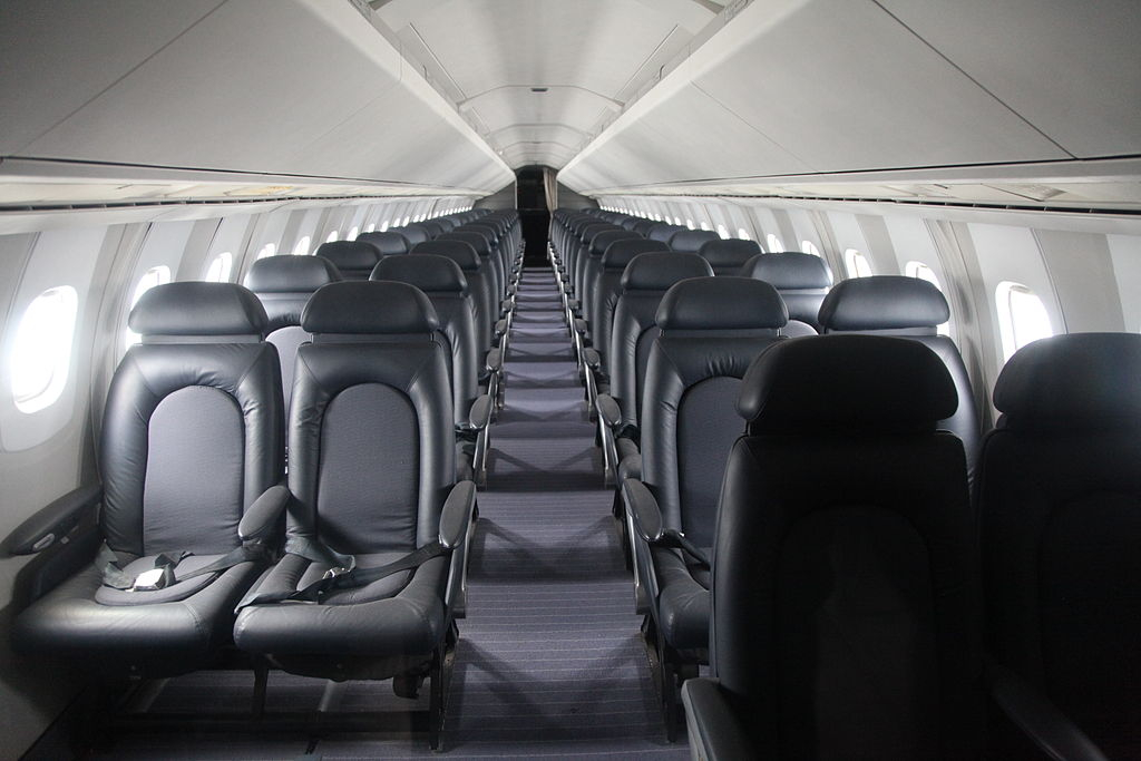 Vnitřek letounu Concorde už jen tak neuvidíte.