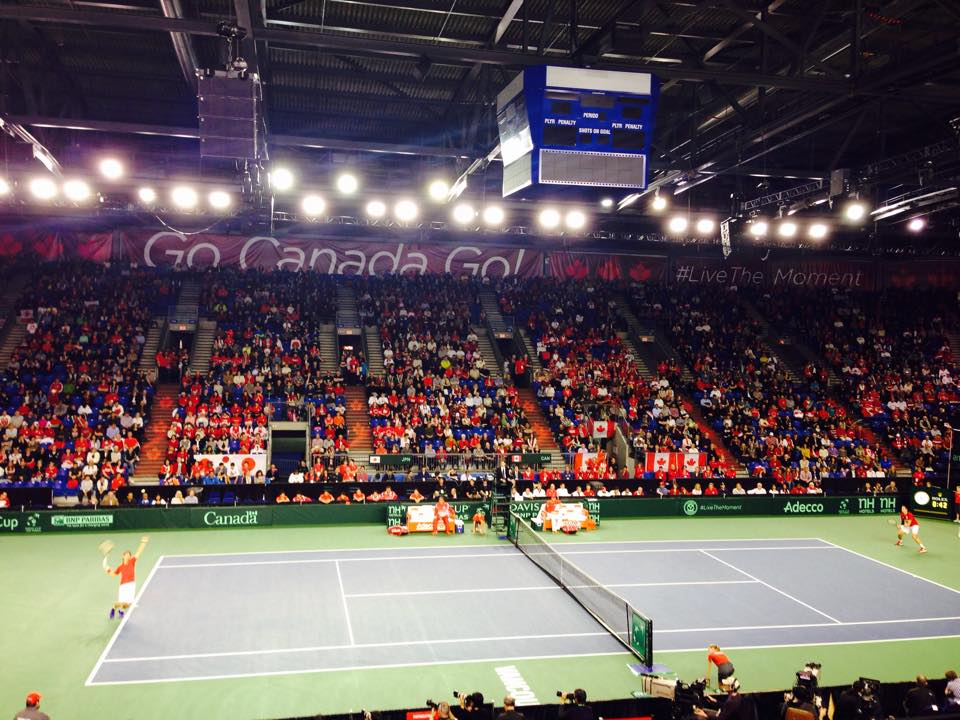 Davis Cup v Kanadě. I zde si získal tento turnaj značnou popularitu!