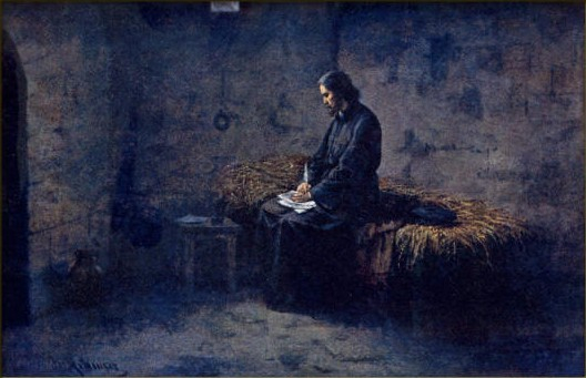 Jan Hus píše ve vězení dopisy svým přátelům