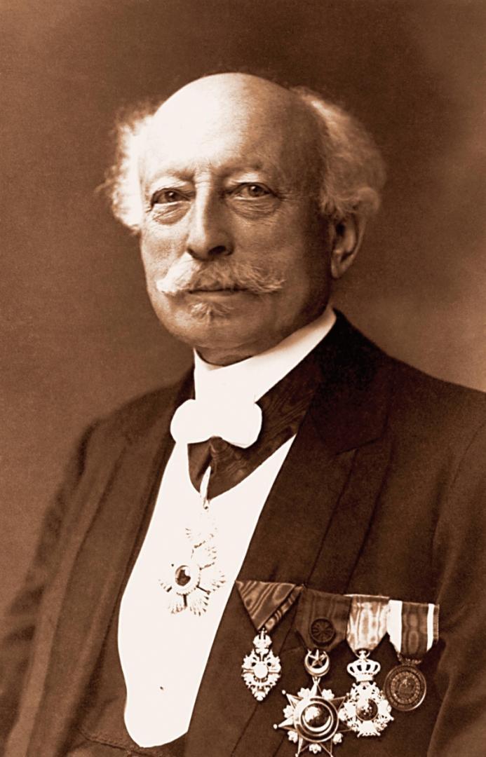 Zakladatel sklárny Ludwig Moser.