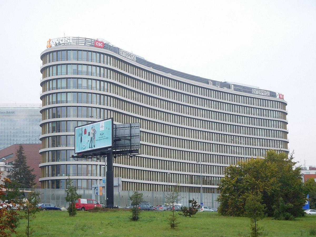 Sídlo české nadnárodní společnosti Avast Software v Praze. Nejznámějším produktem firmy je Avast Antivirus.