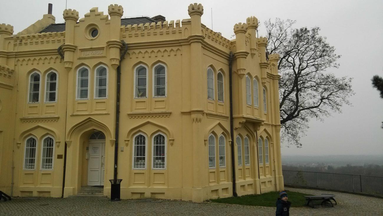 Pseudogotická Vila Karola mělnického okresního tajemníka Františka Vinklera je postavená v romantickém stylu anglické gotiky. Nyní tu sídlí městská knihovna.