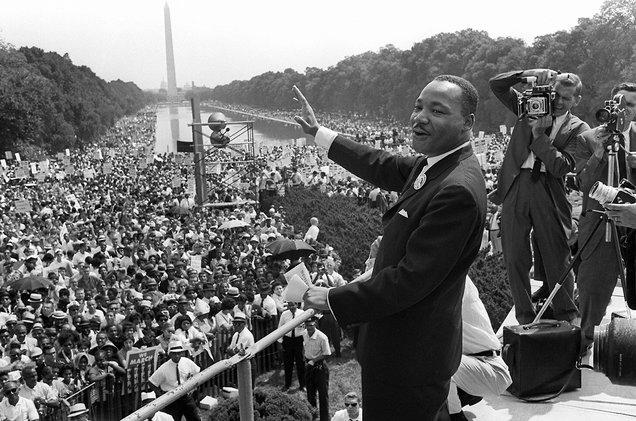 Ve Washingtonu hovořil King 28. srpna 1963 k bezmála 300 tisícům lidem. Jeho projev byl zároveň živě vysílán televizí i rozhlasem.