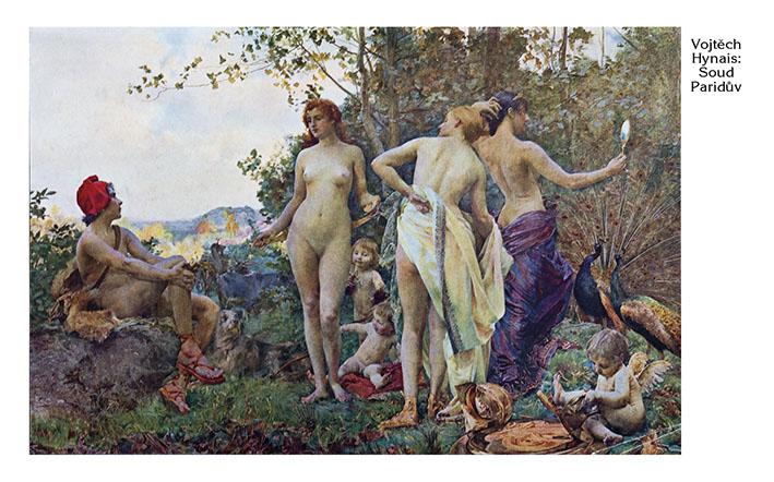 Na Hynaisově mytologickém obrazu z roku 1894 si Paris lačně a sexisticky prohlíží tři nahé bohyně v ponižujících pózách. Genderovým aktivistkám to nevadí?!