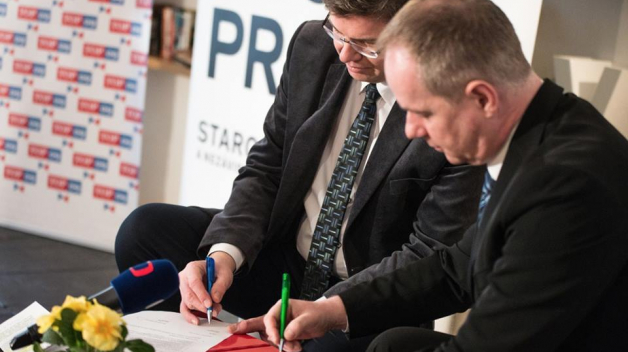 STAN a TOP 09 půjdou do voleb do zastupitelstva Prahy společně. Oznámili to na výročí narození T. G. M.