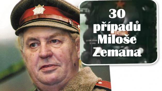 30 případů je pro Miloše Zemana práce na 2 týdny