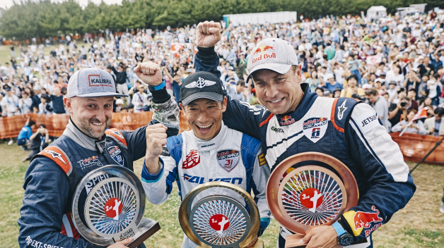 Zleva: 2. Petr Kopfstein, 1. Yoshihide Muroya, 3. Martin Šonka