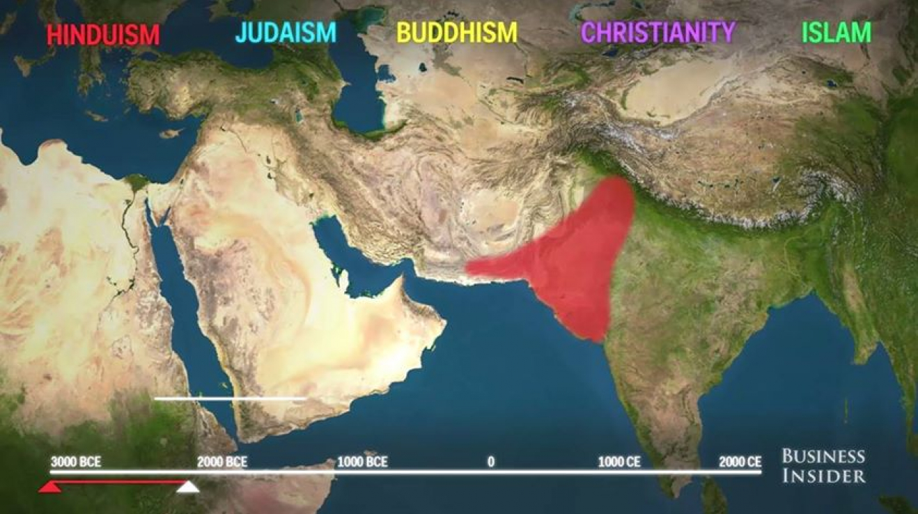 Animovana Mapa Jak Se Sirilo 5 Hlavnich Svetovych Nabozenstvi G Cz