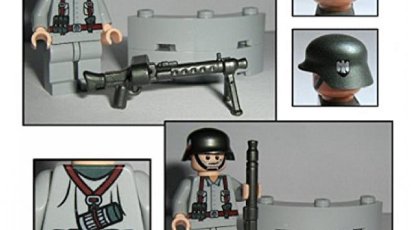 Německý fanoušek Třetí říše vyrobil a prodával speciálně upravené LEGO figurky.