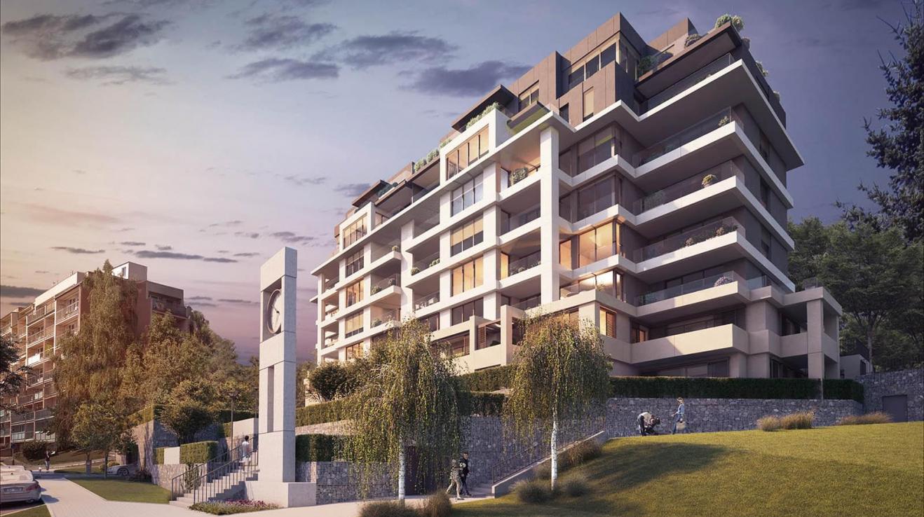 Klidná a krásná lokalita, byt s terasou a skvělým výhledem - to nabízí Terasy Břevnov