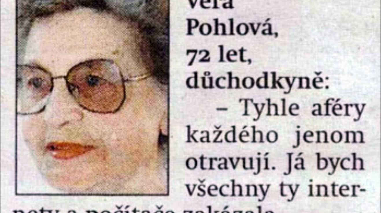 Věra Pohlová - legenda těch internetů již 21 let.