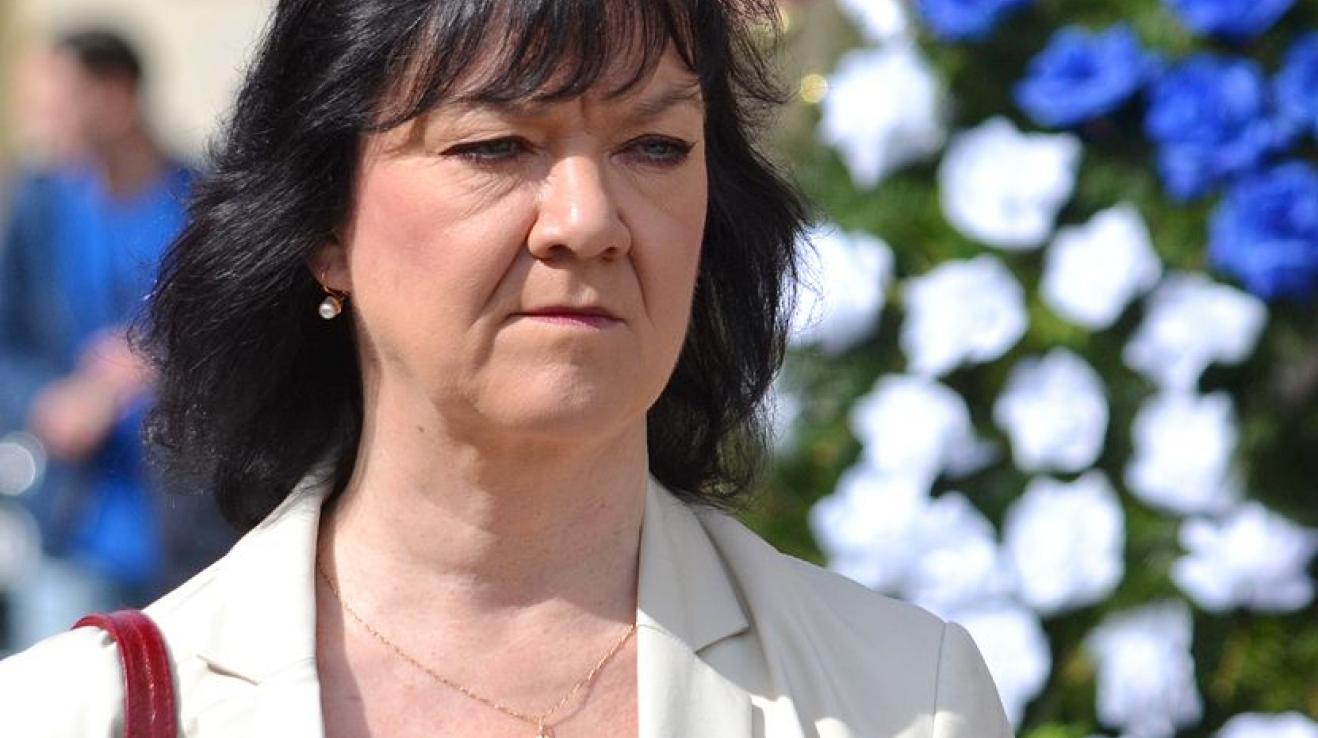 Kandidátka KSČM Marta Semelová.