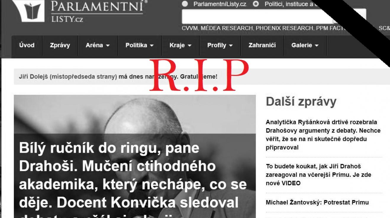Z českého Facebooku zmizel jeden dezinformační velikán. RIP, Parlamentní listy!