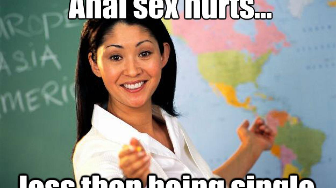 Anální sex bolí – ale méně, než když je člověk sám.