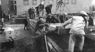 Ze stavby Berlínské zdi - srpen 1961