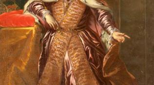 Obraz císaře Karla IV. jako českého krále. Se svatováclavskou korunou.