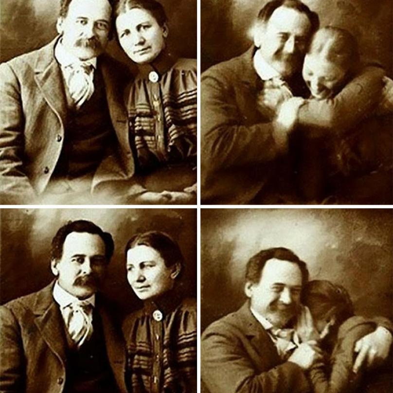 Je těžké nesmát se, když se s někým, koho máte rádi, snažíte udělat portrétové foto a on vás stále rozesmívá. A je jedno jestli je to na počátku 21. století nebo na konci 19. století.