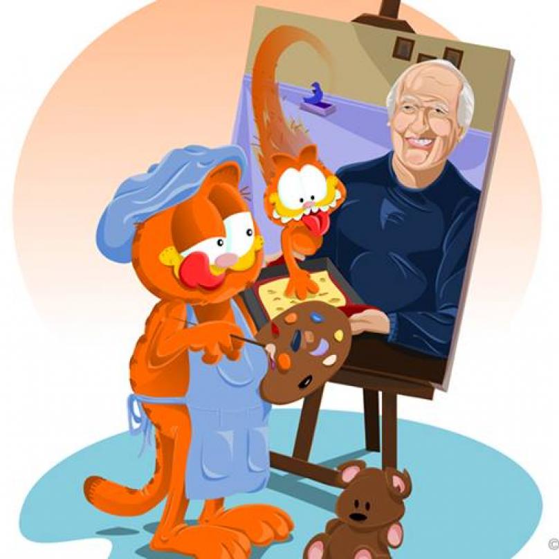 Garfield a jeho autor Jim Davis