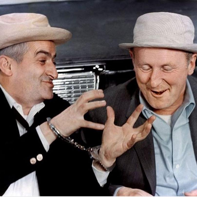 Jako Smolař (1965) s Bourvilem.
