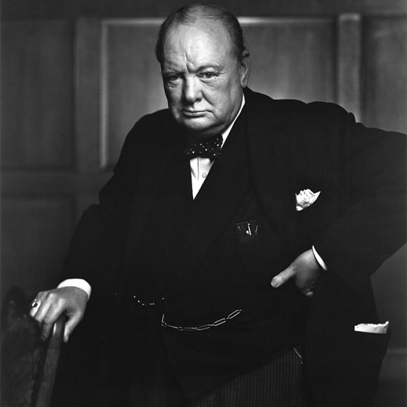 Britský ministerský předseda Winston Churchill