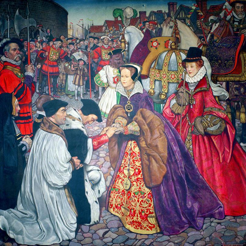Triumfální příchod Marie do Londýna.