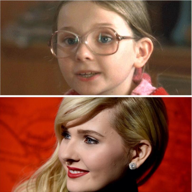Abigail Breslin. Tahle roztomilá lolitka se narodila v roce 1996. O tři roky později už hrála ve své první reklamě. V deseti letech byla nominovaná na Oscara za nejlepší ženský herecký výkon ve vedlejší roli ve filmu Malá Miss Sunshine. Šikovná holka.