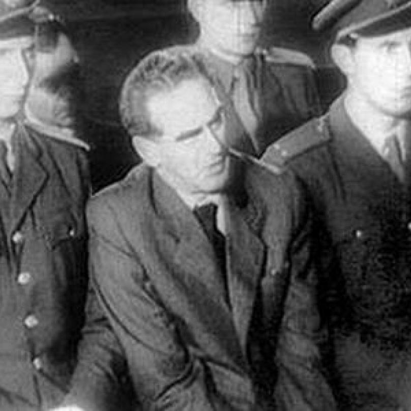 Rudolf Slánský u soudu v roce 1952.