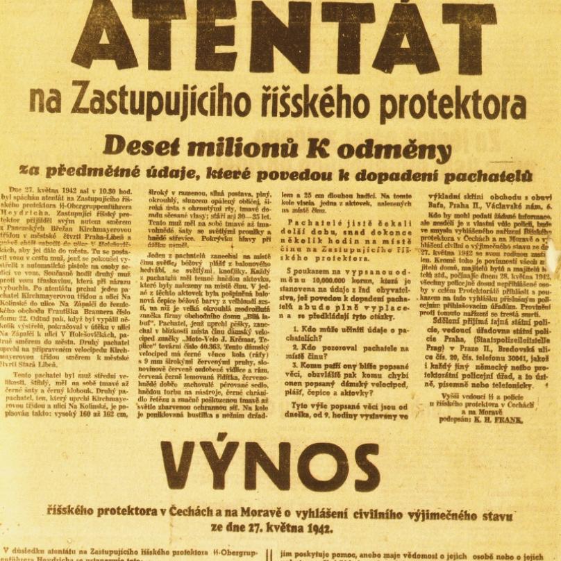 Výnos vydaný po atentátu na Heydricha