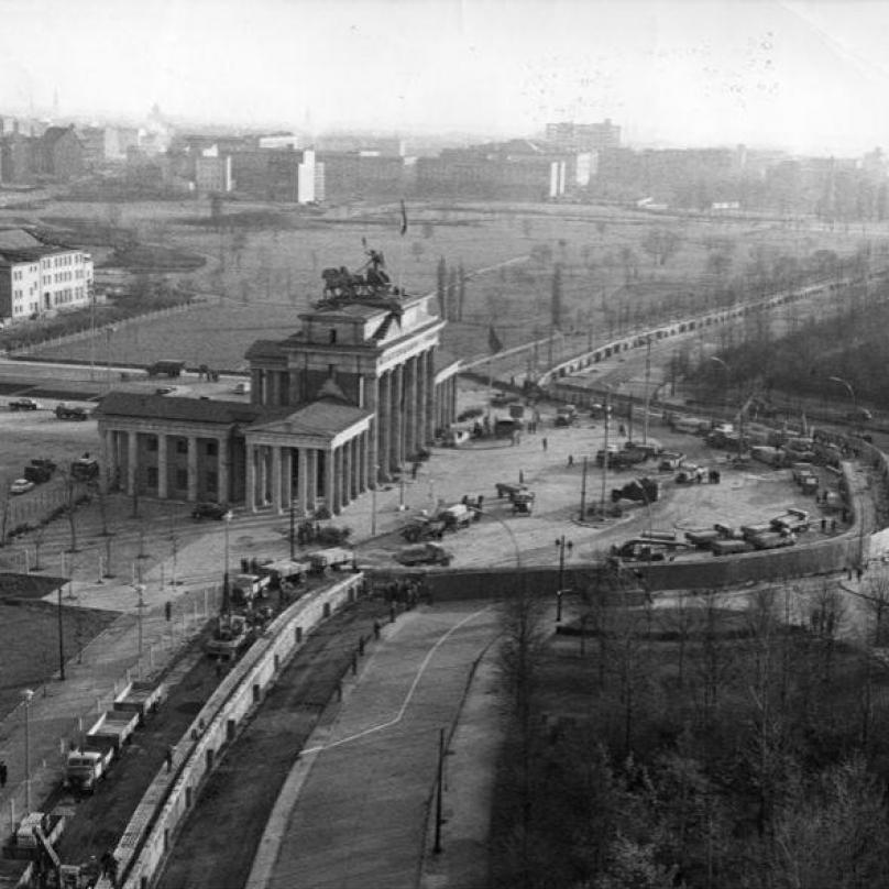 Berlín - letecký snímek z roku 1961