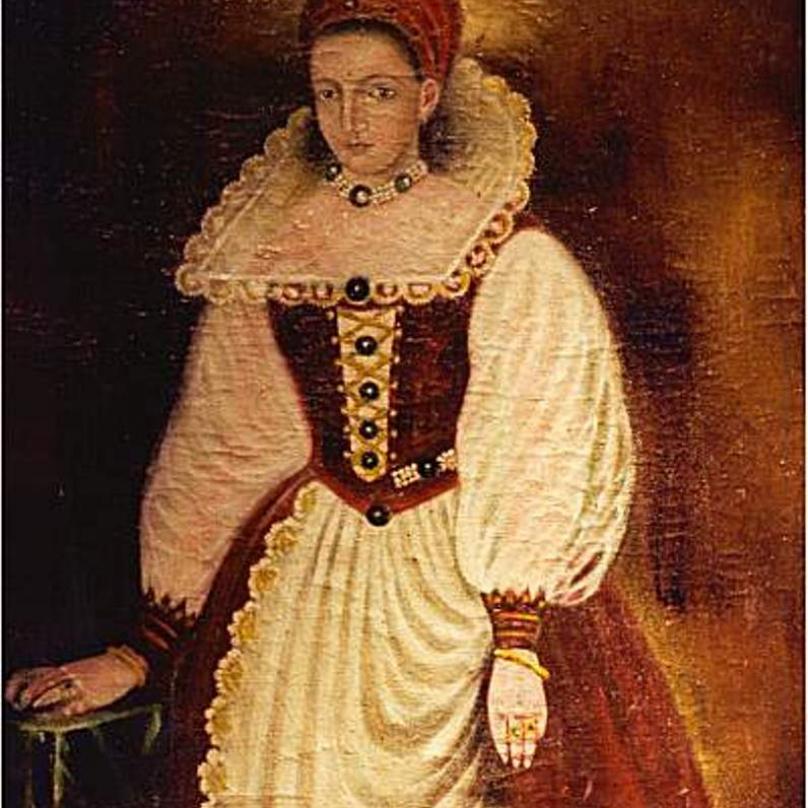 Portrét hraběnky Alžběty Báthory.