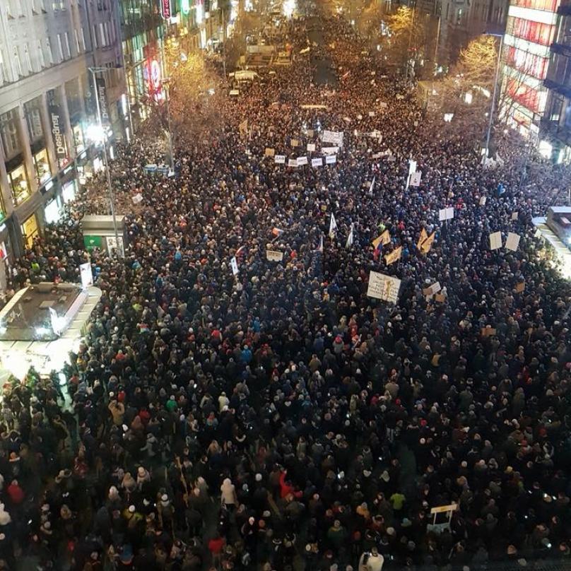Demonstrace na Václaváku byl jeden velký podvod