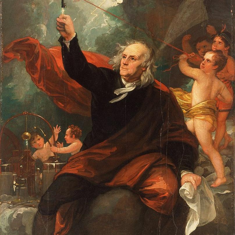 Největší uznání přineslo Franklinovi pravděpodobně sestrojení bleskosvodu