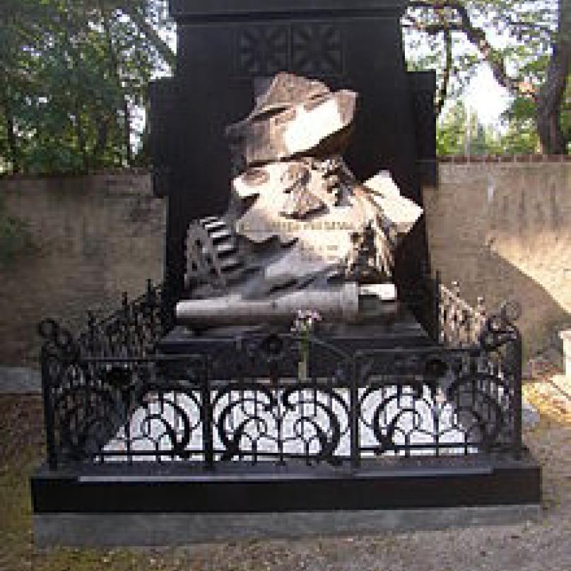 Hrob Emila Škody v Plzni.