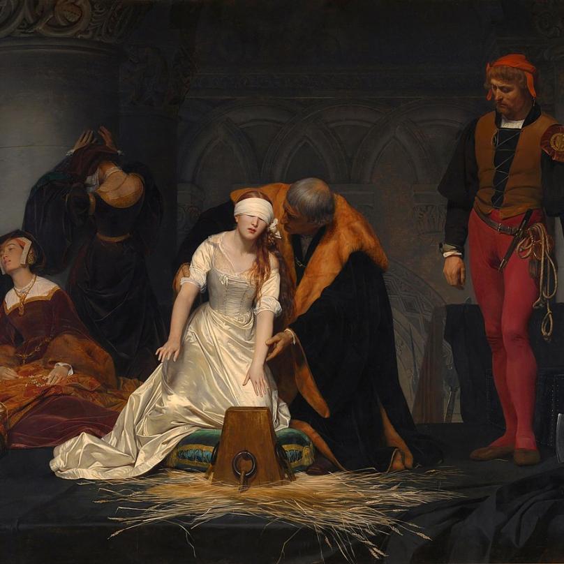 Obraz popravy Jany Greyové.