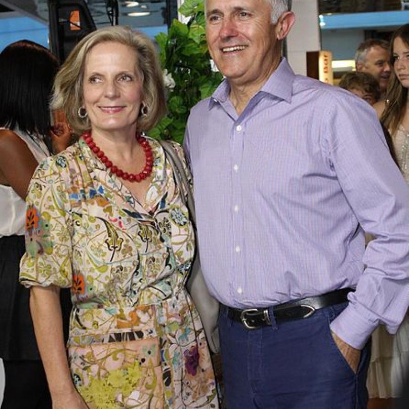 """Australský premiér a jeho """"lahodná"""" manželka"""