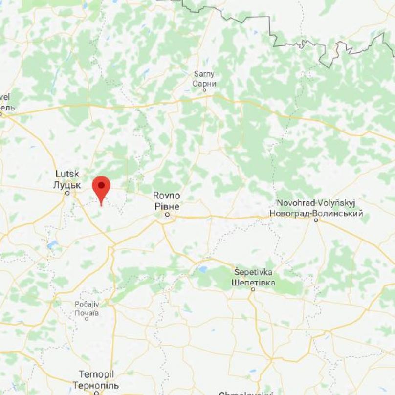 Český Malín se dnes rozkládá na území Ukrajiny.