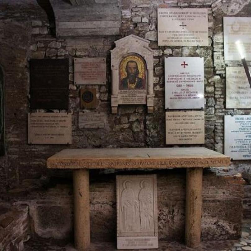 Na sklonku svého života vstoupil Cyril do římského kláštera.
